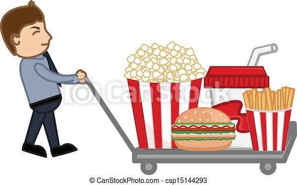 Unhealthy Foods Drawing Junk Food Cartoon Man