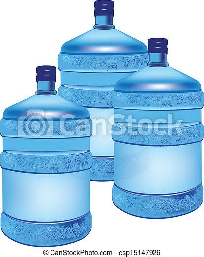 Ilustraciones de vectores de contenedores caj n agua - Contenedores de agua ...