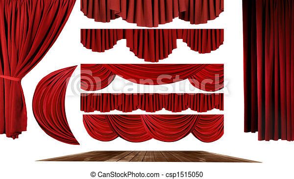 Theater Elements to Create Your Own Stage Background - csp1515050