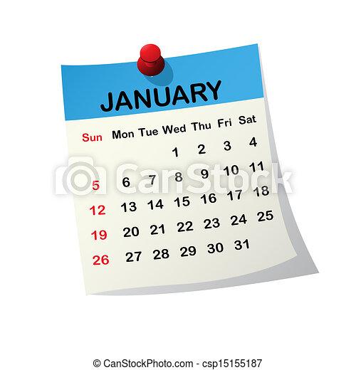 Illustration de 2014 calendrier janvier 2014 papier for Clipart calendario
