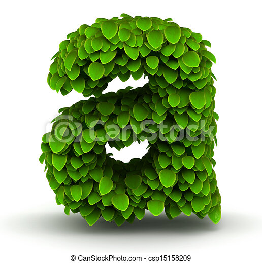 Stock Illustration of Leaves font letter a small - Leaves alphabet ...