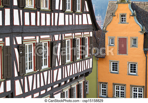 Historic half-timbered houses, Germany - csp15158829