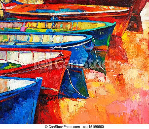 barcos, cais - csp15159660