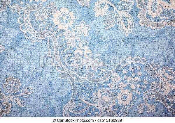 Vintage blue wallpaper  - csp15160939