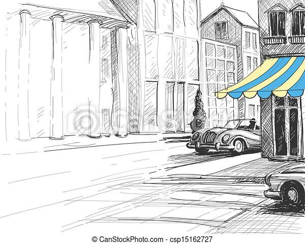 Urban Street Drawings Urban Architecture Street
