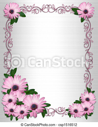Wedding or Party invitation Daisies - csp1516512