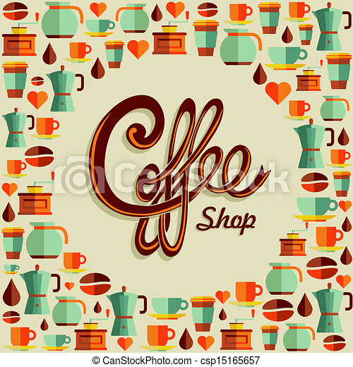 Vintage Coffee Shop Logo Vintage Coffee Shop Text With