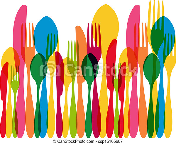 Vector of Multicolor transparent dishware - Colorful transparency ...