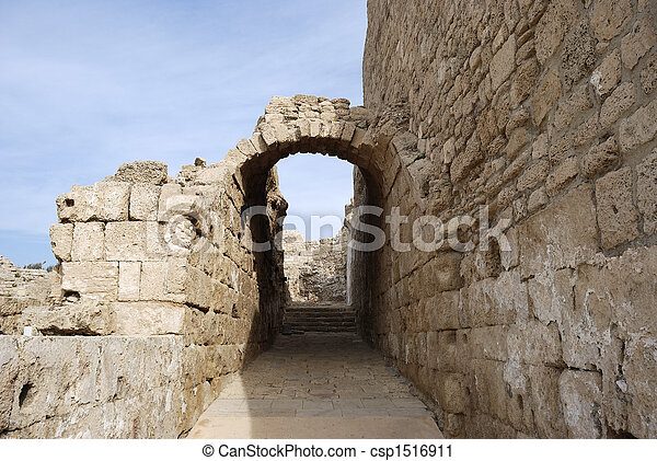Detail of ancient city Ceasarea - csp1516911