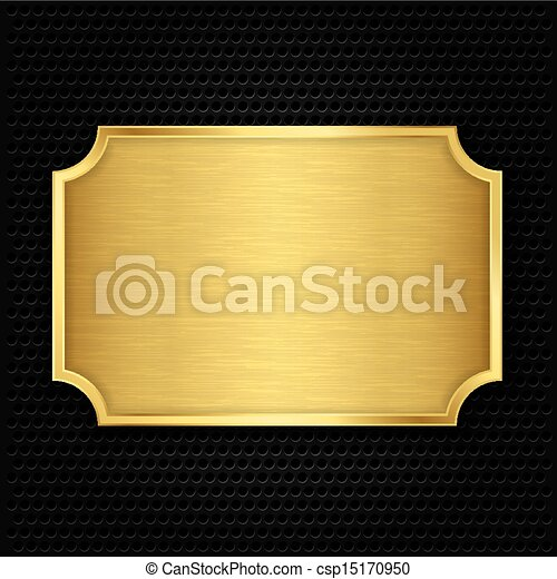 Gold texture plate, vector illustra - csp15170950
