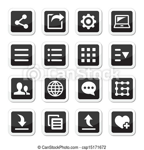 Menu settings tools icons set - csp15171672