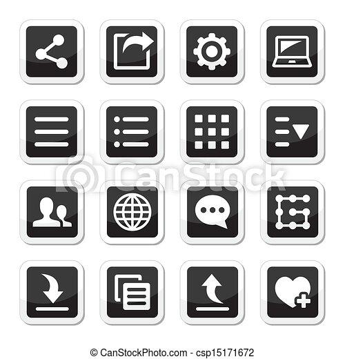 Menu settings tools icons set - csp15171672