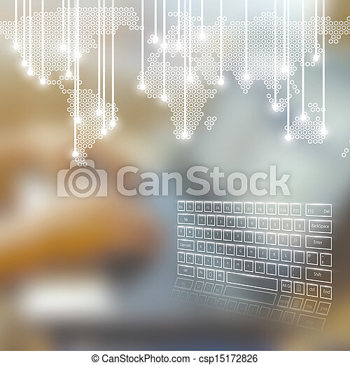 Technology business concept background - csp15172826