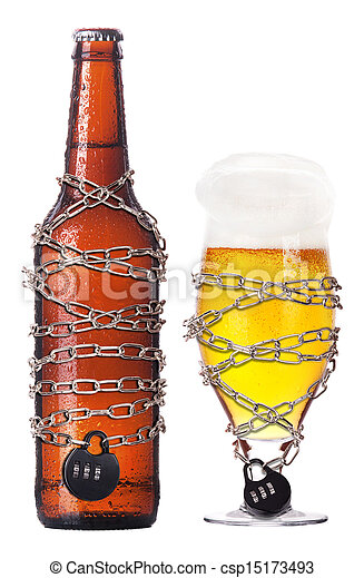 Stock Photo - alcohol abuse concept - beer locked on a chain - stock ...