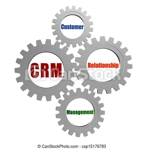 Stock Illustration of CRM - customer relationship ...