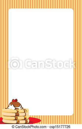 Strawberry Pancake Stack Food Frame - stock illustration, royalty free ...
