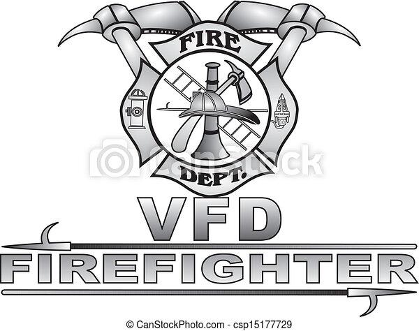 vector illustration of maltese fire cross vector grey