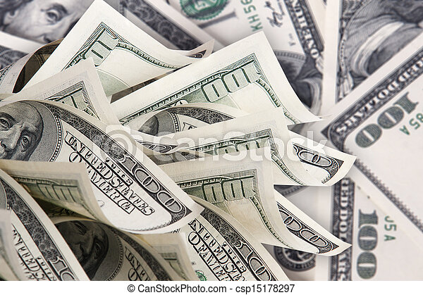 Background with money american hundred dollar bills