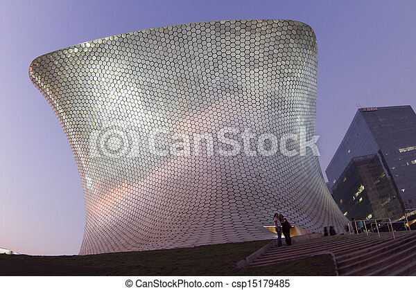 soumaya museum in mexico city - csp15179485