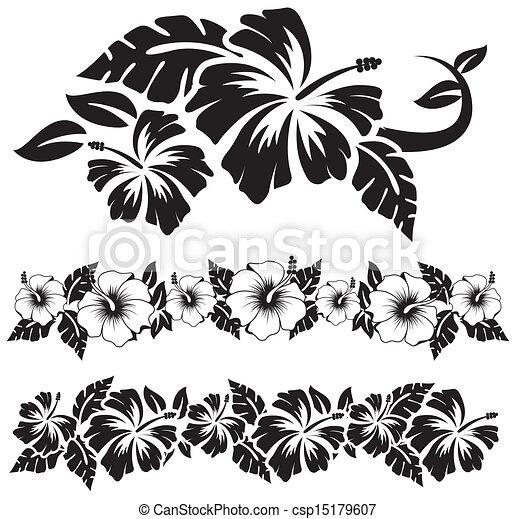 Island Flowers Drawings Hawaiian Hibiscus Flowers