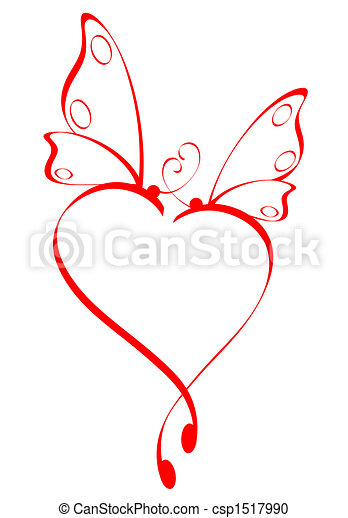 Stock Illustration of Butterfly heart csp1517990 - Search ...