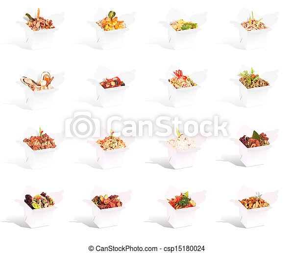 Chinese food in a container collection - csp15180024