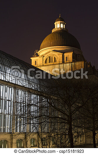"""The historic government building """"Staatskanzlei"""" in Munich, Germany - csp15181923"""