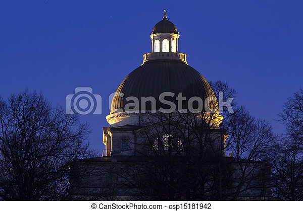 """The historic government building """"Staatskanzlei"""" in Munich, Germany - csp15181942"""