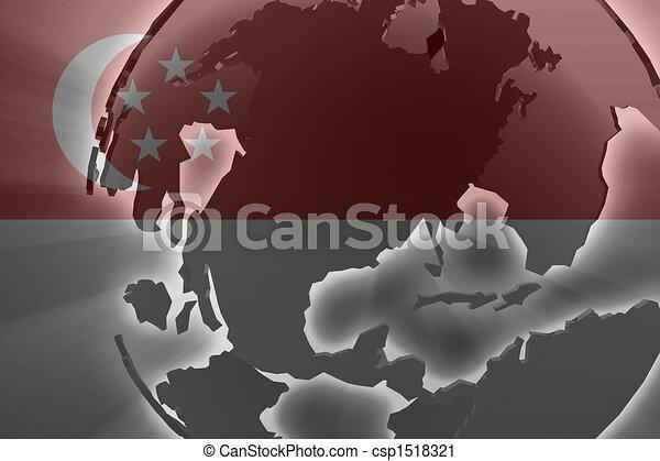 Flag of Singapore - csp1518321