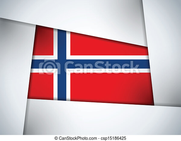 Norway Country Flag Geometric Background - csp15186425