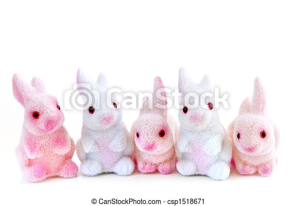 Easter bunny toys - csp1518671
