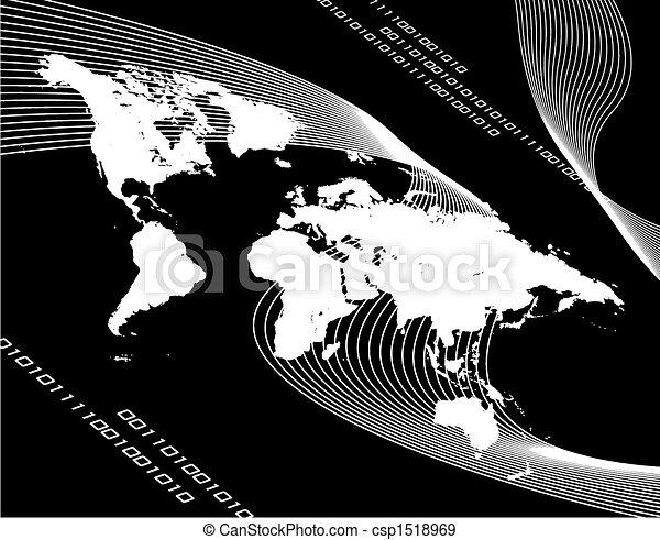 World Map Montage - csp1518969