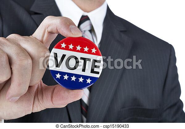投票, 政治, 徽章 - csp15190433