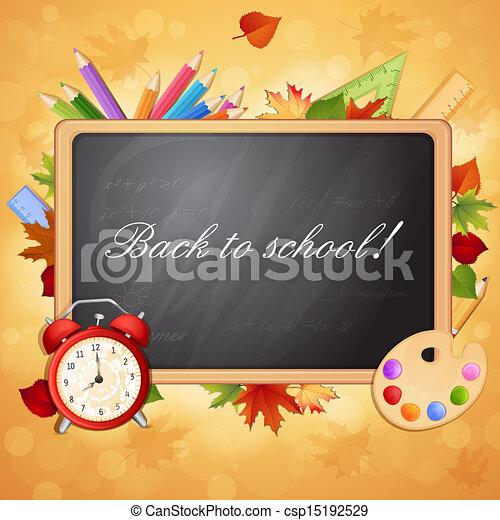 Back to school illustration  - csp15192529