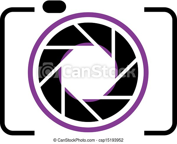 Clipart Vector of photography logo csp15193952 - Search Clip Art ...