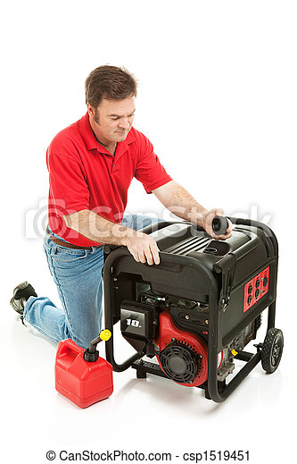 Disaster Preparedness - Checking Generator - csp1519451