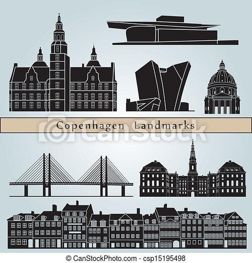 Copenhagen landmarks and monuments - csp15195498