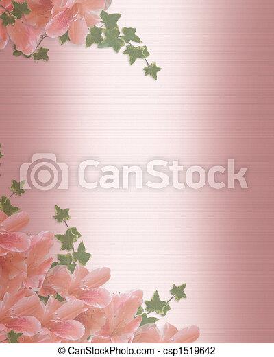 Wedding Invitation Border Pink satin - csp1519642