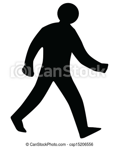 Walking Man Silhouette - csp15206556