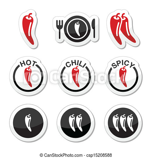 Chili peppers, hot and spicy food i - csp15208588