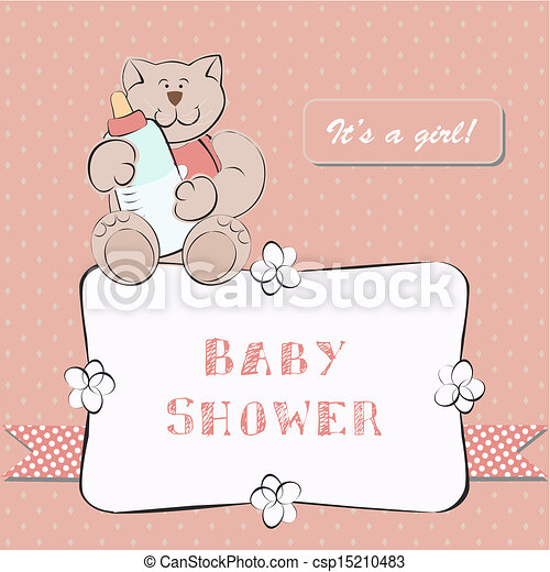 Vector van douche baby punt achtergrond uitnodiging baby douche csp15210483 zoek - Baby douche ...