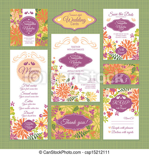 set of wedding cards - csp15212111