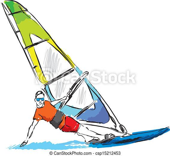 Windsurfing drawing