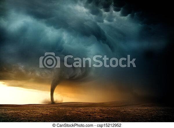 Sunset Tornado - csp15212952