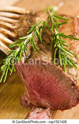 Roasted rack of lamb - csp1521426