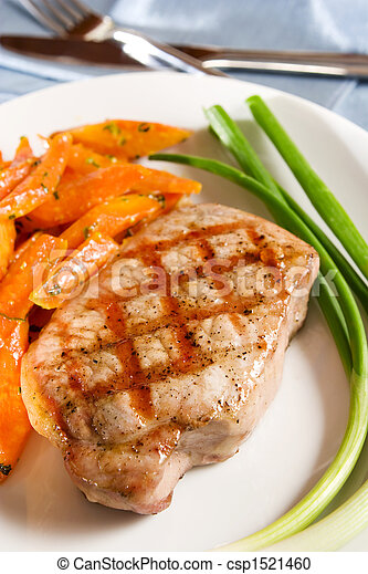 Grilled pork chop - csp1521460