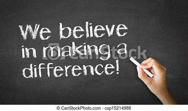 We believe in making a difference Chalk Illustration - csp15214988