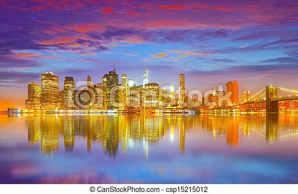 New York City, USA panorama  - csp15215012