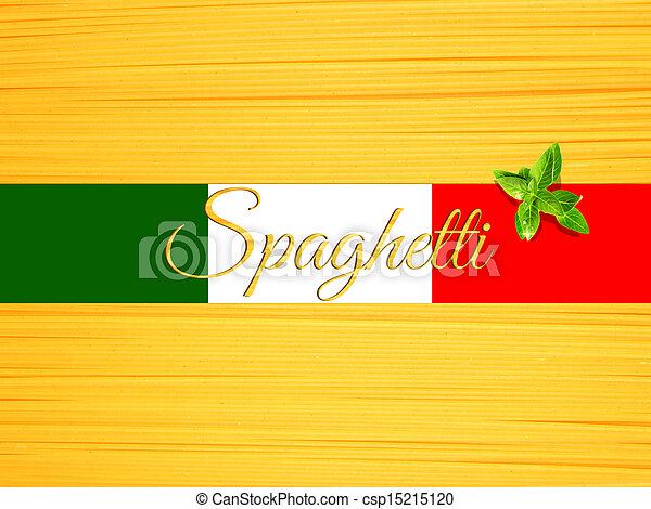 Abstract view of bunch ofspaghetti making a horizontal background