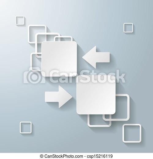 clipart von wei es rechteck quadrate 2 optionen. Black Bedroom Furniture Sets. Home Design Ideas